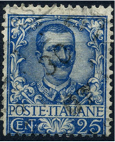 Изображение Италия 1901-26 гг. SC# 81 • 25 c. • Король Виктор Эммануил II • Used XF ( кат.- $3,75 )