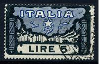 """Изображение Италия 1923 г. SC# 164 • 5 L. • 1-я годовщина """"Похода фашистов на Рим"""" (концовка) • Used XF ( кат.- $60 )"""