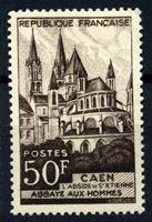 Изображение Франция 1951 г. Gb# 674 • 50 fr. • Кафедральный собор Каена • MLH OG VF ( кат.- £6 )