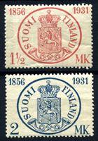 Изображение Финляндия 1931 г. Gb# 182-3 • 1 ½ и 2 Mk. • 75-летие первой финской почтовой марке • MNH OG XF • полн. серия ( кат.- £12 )