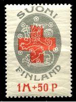 Изображение Финляндия 1922 г. Gb# B1 • 1 Mk. + 50 p. • Финский Красный крест • благотворительный выпуск • MNH OG VF ( кат.- £2 )