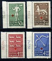 Изображение Финляндия 1943 г. Gb# B54-7 • Финский Красный крест • гербы и символы территорий • благотворительный выпуск • MNH OG Люкс • полн. серия ( кат.- £9 )