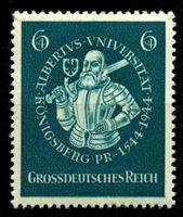 Изображение Германия 3-й рейх 1944 г. Mi# 896 • 6 + 4 pf. • 400 лет университету Альберта • Герцог Бранденбургский • благотворительный выпуск • MNH OG XF ( кат.- €1 )
