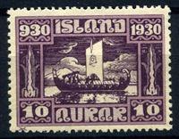 Изображение Исландия 1930 г. SC# 155 • 10 a. • 1000-летие исландского парламента • корабль викингов • MH OG VF ( кат.- $10 )