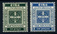 Изображение Ирландия 1932 г. SC# 85-6 • 2 и 3 p. • Международный Евхаристический конгресс • MH OG VF • полн. серия ( кат.- $7,5 )