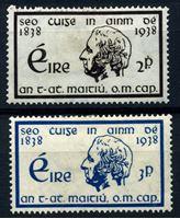 Изображение Ирландия 1938 г. SC# 101-2 • отец Мэтью • MH OG VF • полн. серия ( кат.- $11 )
