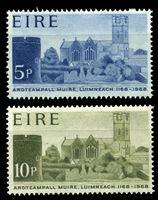 Изображение Ирландия 1968 г. SC# 244-5 • 5 и 10 p. • 800-летие основания собора св. Марии • MNH OG XF • полн. серия