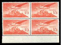 Изображение Ирландия 1948-65 гг. SC# C6 • 1sh3p. • Ангел над замком • авиапочта • MNH OG XF+ • кв.блок ( кат.- $25 )