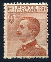 Bild von Италия 1908-27 гг. SC# 102 • 30 c. • Король Виктор Эммануил II • MH OG XF