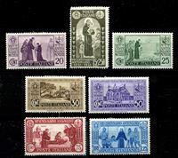 Изображение Италия 1931 г. SC# 258-64 • 20 c. - 5 + 2.50 L. • 700 лет со дня смерти св. Антония Падуанского • MLH OG XF • полн. серия ( кат.- $90 )