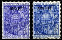 Изображение Италия • Триест 1950 г. SC# 74-5 • 20 и 55 l. • Святой год. • Композиция из итальянских соборов • MH OG XF • полн. серия ( кат.- $45 )