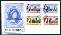 Изображение Монтсеррат 1978 г. • 25-летие коронации Елизаветы II • Used(СГ) XF • полн. серия • КПД