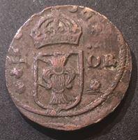 Изображение Швеция 1638 г. • KM# 160 • 1/4 эре • 3 короны • регулярный выпуск • VF