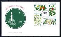 Изображение Гернси 1978 г. SC# 169-72 • 5 - 13 p. • Рождество • полевые ягоды и цветы • Used(СГ) XF • полн. серия • КПД