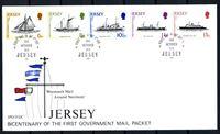 Изображение Джерси 1978 г. SC# 197-201 • 6 - 13 p. • 200-летие регулярного сообщения с Англией • корабли разных периодов • Used(СГ) XF • полн. серия • КПД
