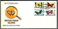 Изображение Британские Виргинские о-ва 1978 г. SC# 342-5 • 5 - 75 c. • Бабочки • Used(СГ) XF • полн. серия • КПД