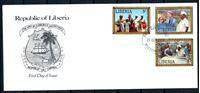 Изображение Либерия 1978 г. SC# 817-9 • 5 c. - 1$ • Визит президента США Джимми Картера в Либерию • Used(СГ) XF • полн. серия • КПД