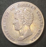 Изображение Германия • Саксен-Кобург-Гота 1836 г. • KM# 94b • 10 крейцеров • Редкая! • герцог Эрнст I • герб герцогства • регулярный выпуск • XF-