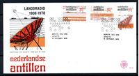 Изображение Нидерландские Антильские о-ва 1978 г. SC# 421-3 • 20 - 55 c. • 70-летие начала передачи данных по радио • Used(СГ) XF • полн. серия • КПД