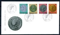 Изображение Люксембург 1979 г. SC# 618-21 • 5 - 26 fr. • Древнеримские монеты • Used(СГ) XF • КПД