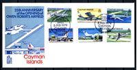 Изображение Каймановы о-ва 1979 г. SC# 420-5 • 3 - 30 с. • 25-летие аэродрома им Оуэна Робертса • самолеты • Used(СГ) XF • полн. серия • КПД