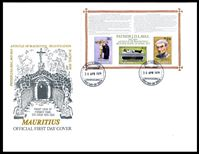 Изображение Маврикий 1979 г. SC# 482a • Беатификация отца Лаваля • Used(СГ) XF • блок • КПД