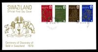 Изображение Свазиленд 1979 г. SC# 321-4 • 5 - 50 с. • 100-летие открытия месторождений золота • Used(СГ) XF • полн. серия • КПД