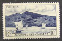 Изображение Коморские о-ва 1950 г. SC# 1 • Местные ландшафты • MNH OG XF+