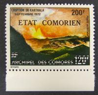 Изображение Коморские о-ва 1975 г. SC# 222 • Извержение вулкана. Надпечатка новой цены • MNH OG XF+ ( кат.- $6 )