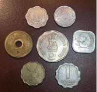 Изображение Иностранные монеты • набор 7 монет разных типов(не круглые) • регулярный выпуск • VF-UNC