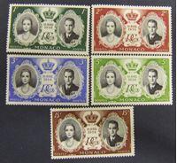 Изображение Монако 1956 г. Mi# 561-565 • Бракосочетание князя Ренье Третьего • MNH OG XF+