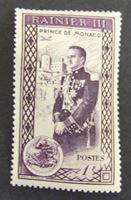 Bild von Монако 1950 г. Mi# 410 • Восхождение на трон князя Ренье Третьего • MH OG XF