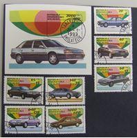 Bild von Мадагаскар 1993 г. SC# 1457-1463, блок • Современные легковые машины • Used(ФГ) XF+ • полн. серия+блок ( кат.- $5,8 )