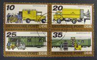 Image de ГДР 1978 г. Mi# 2299-2302 • Почтовый транспорт • Used(ФГ) XF+ ( кат.- €3,5 )