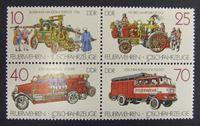Image de ГДР 1987 г. Mi# 3101-3104 • пожарные машины • MNH OG XF+ ( кат.- €3 )