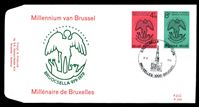Изображение Бельгия 1979 г. SC# 1026-7 • 4 и 8 fr. • 1000-летие основания Брюсселя • Used(ФГ) XF • полн. серия • КПД