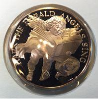 Изображение США 1983 г. • Песни ангелов (Рождество) • ангел и ребенок с нотами • медаль • MS BU люкс! • пруф