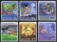 Изображение Новая Зеландия 1994 г. SC# 1219-24 • 45 c. - 1.80$ • мифы народа Маори • MNH OG XF • полн. серия ( кат.- $11 )
