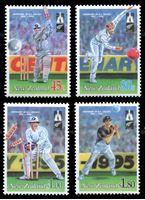 Изображение Новая Зеландия 1994 г. SC# 1244-7 • 45 c. - 1.80$ • Развитие спорта • крикет • MNH OG XF • полн. серия ( кат.- $7 )