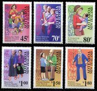 Изображение Новая Зеландия 1995 г. SC# 1269-74 • 45 c. - 1.80$ • поддержка языка народа Маори • MNH OG XF • полн. серия ( кат.- $10 )