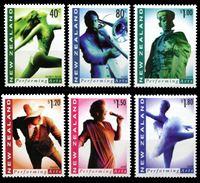 Изображение Новая Зеландия 1998 г. SC# 1476-81 • 40 c. - 1.80$ • Искусство перфоманса • MNH OG XF • полн. серия ( кат.- $11 )