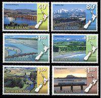 Изображение Новая Зеландия 1997 г. SC# 1446-51 • 40 c. - 1.80$ • Маршруты туристических поездов • MNH OG XF • полн. серия ( кат.- $11 )