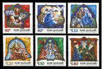 Изображение Новая Зеландия 1999 г. SC# 1608-13 • 40 c. - 1.80$ • Рождество • MNH OG XF • полн. серия ( кат.- $10 )