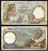 Bild von Франция 1939 г. P# 94 • 100 франков • Максимильен де Бетюн • регулярный выпуск • F-