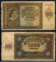 Bild von Хорватия 1941 г. P# 4 • 1000 кун • регулярный выпуск • VG