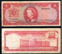 Image de Тринидад и Тобаго 1964 г. P# 26b • 1 доллар • Елизавета II • регулярный выпуск • F