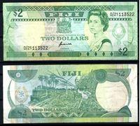 Bild von Фиджи 1995 г. P# 90 • 2 доллара • Елизавета II • регулярный выпуск • XF-