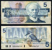 Bild von Канада 1986 г. P# 95a2 • 5 долларов • сэр Уилфрид Лорье (дятел) • регулярный выпуск • F
