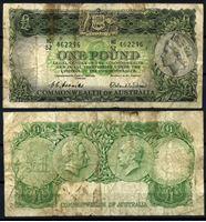 Изображение Австралия 1953-1960 гг. P# 30 • 1 фунт • Елизавета II • регулярный выпуск • F-