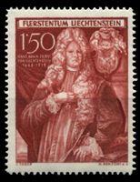 Изображение Лихтенштейн 1949 г. SC# 242 • 150 rp. • 250-летие титула герцогов Шеленберг • принц Андреас • MLH OG XF
